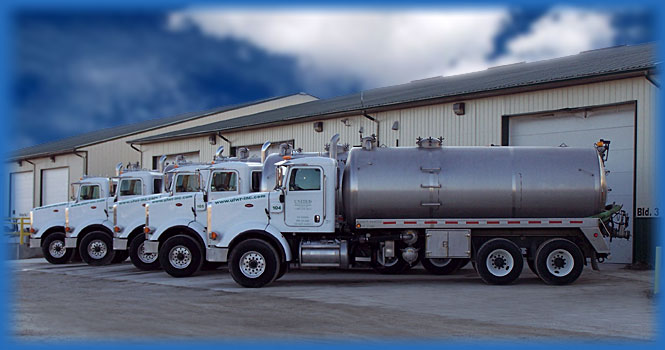 ULWR liquid waste recycling trucks